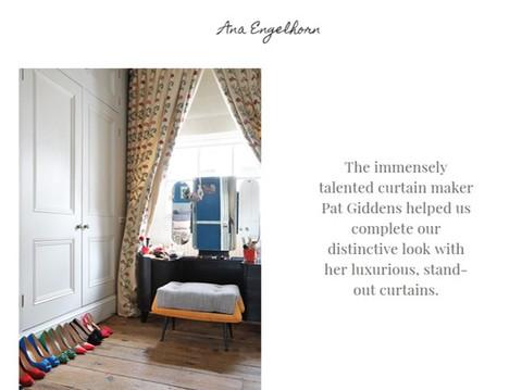 Curtains - Pat Giddens Ltd Interior Designer - Ana Engelhorn Photographer - James Balston