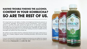 Do you drink GT's Living Foods Kombucha? You may have a legal claim!