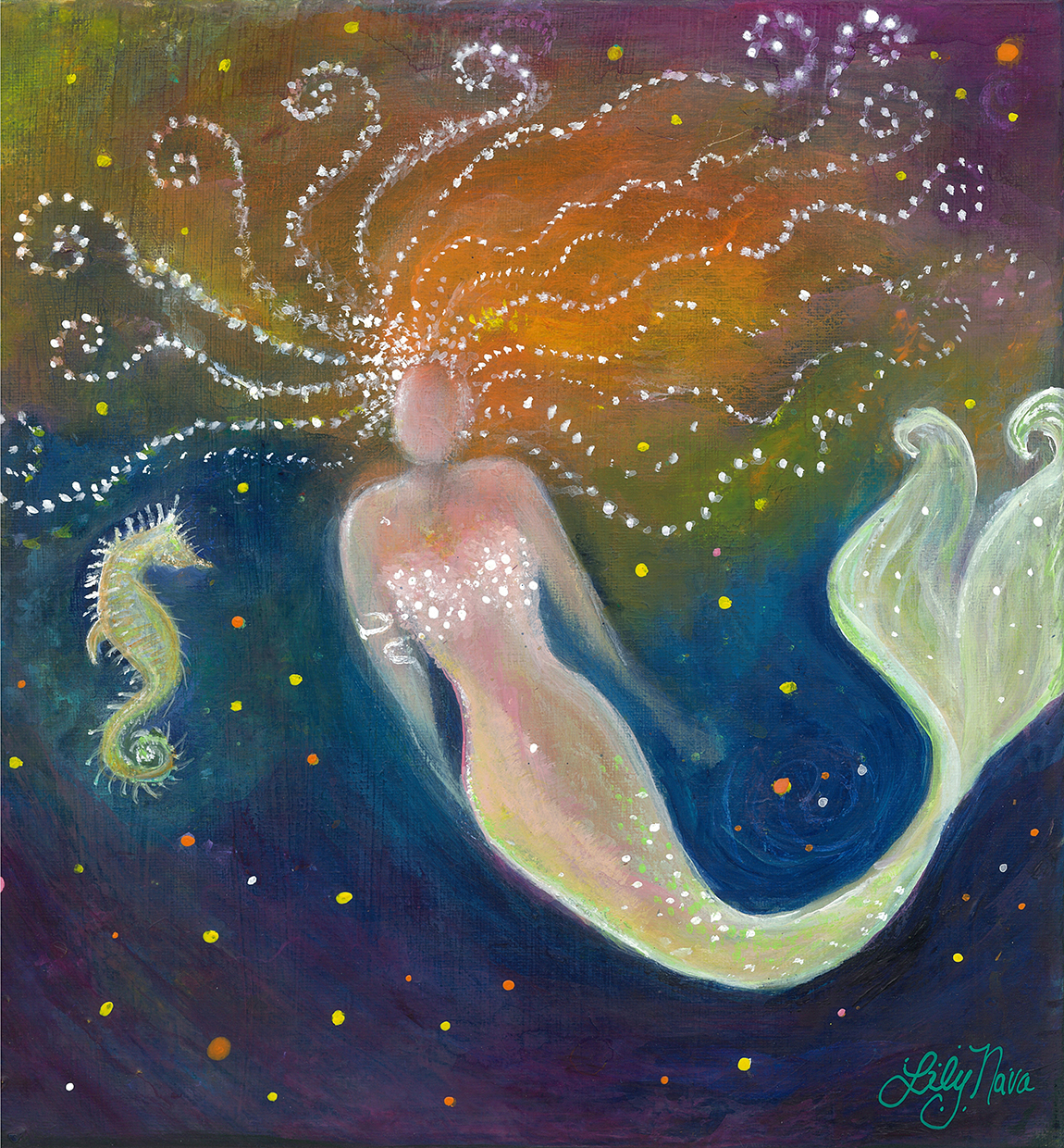 The Wish-Mermaid & Seahorse