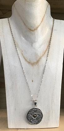 Pentagram Stirling silver necklace
