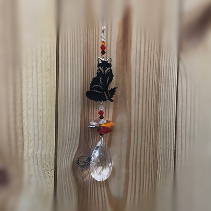 Fox Swarovski Suncatcher