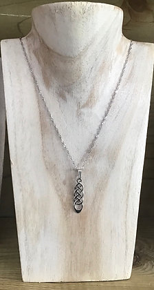 Solid silver Celtic knot necklace
