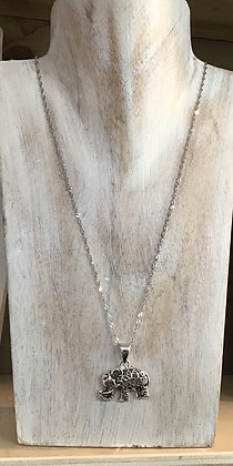 Elephant Stirling silver necklace