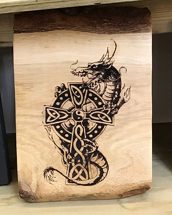 Celtic Cross Protection Dragon