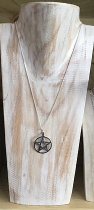 Solid silver Pentagram necklace
