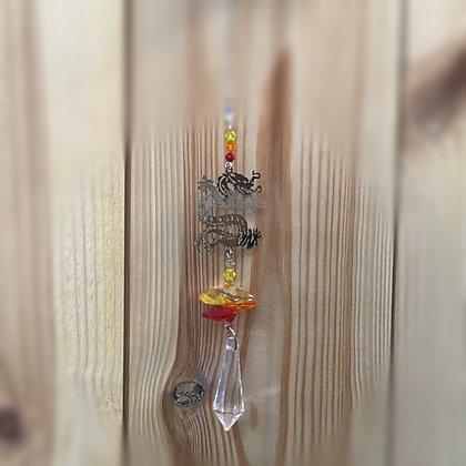 Chinese Dragon Swarovski Suncatcher