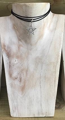 Stirling silver Pentagram necklace