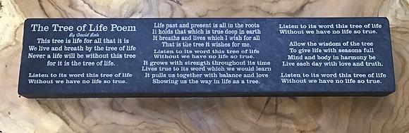 Tree of Life Poem on Slate