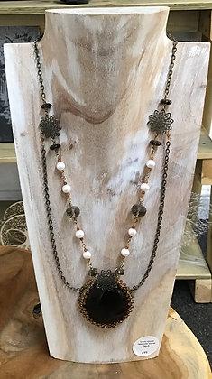 Handmade smokey quarts necklace