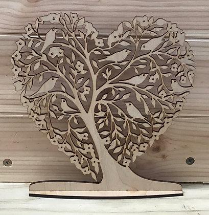 Tree Heart scrollwork