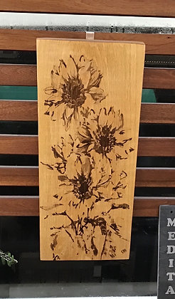 Sunflowers On Oak