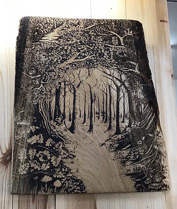 Forest Scene on Oak