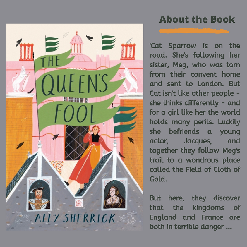 Book Zoom exploring The Queen's Fool by Ally Sherrick