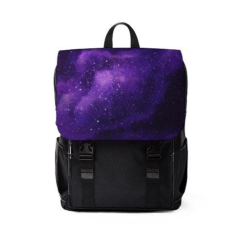 Galaxy Purple Unisex Casual Shoulder Backpack