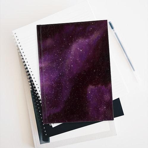Purple Galaxy Nebula Journal - Blank