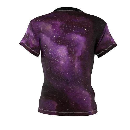 Purple Galaxy Nebula Women's AOP Cut & Sew Tee