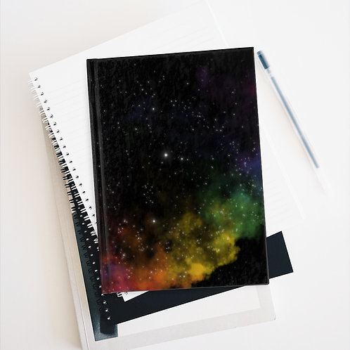 Pride Art Sketch Book Rainbow galaxy Nebula Art Journal - Blank LGBTQ+