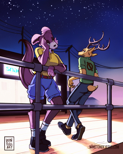 🐺 JUNO AND LOUIS 🦌 - Beastars Fanart