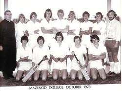 1st  XI Cricket team, 1973, Fr I McIntosh & Mr P Bibby