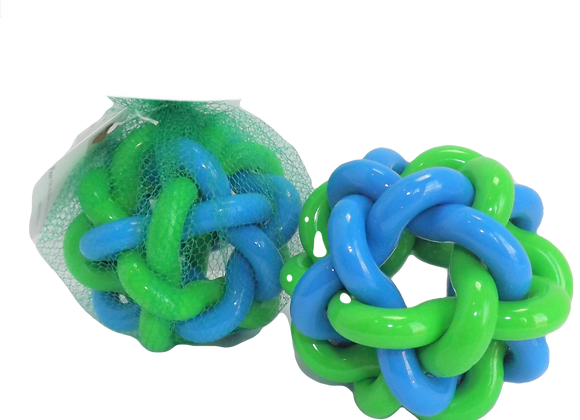 Dog Toy -Soft Rubberized Link Ball Throw