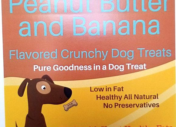 Peanut Butter & Banana Flavored Crunchy Dog Treats