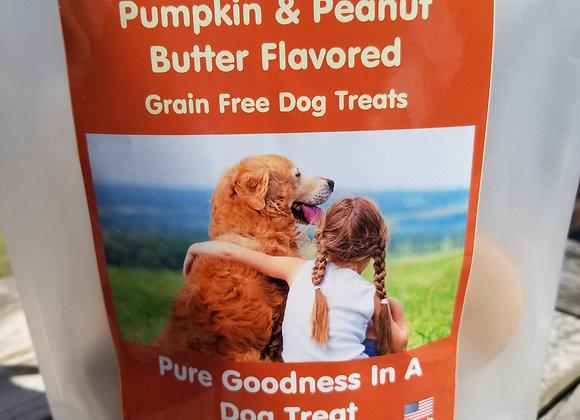 Pumpkin and Peanut Butter Flavored Grain Free Dog Treats