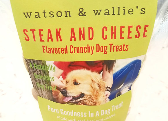 Steak and Cheese Flavored Crunchy Dog Treats