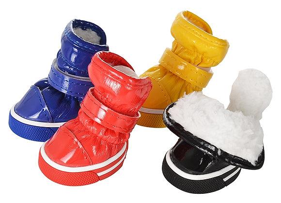 4pcs/Set Waterproof Anti Slip Pet Shoes