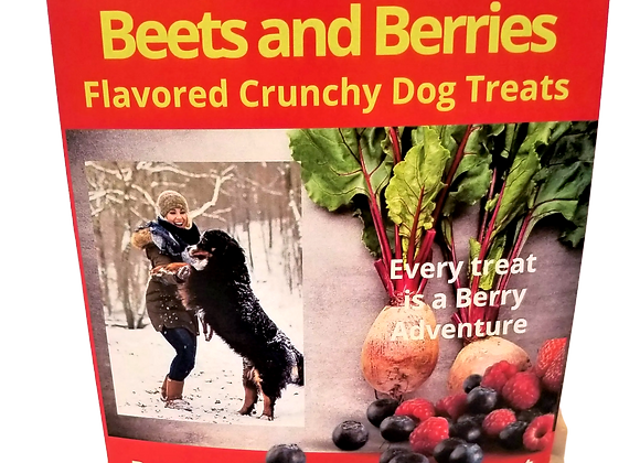 Beets and Berries Flavored Crunchy Dog Treats