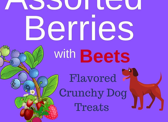 Assorted Berries with Beets Flavored Crunchy Dog Treats