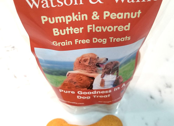 Pumpkin and Peanut Butter Flavored Grain Free Dog Treats