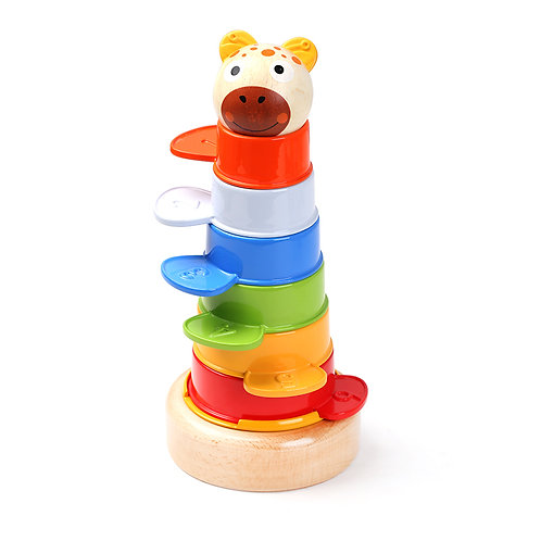 2 in 1 Colourful Tower Stacking Cups 8 Pieces