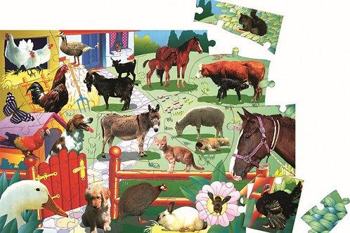 Barnyard Life Floor Puzzle 24pc