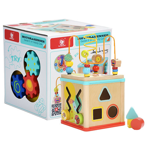 Garden 5 - in - 1 Shape Sorter & Activity Cube