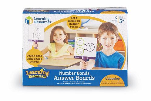 Number Bonds Answer Boards (Set of 5)