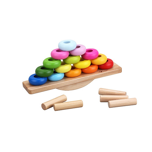 Balance Stacking Game with Activity Cards