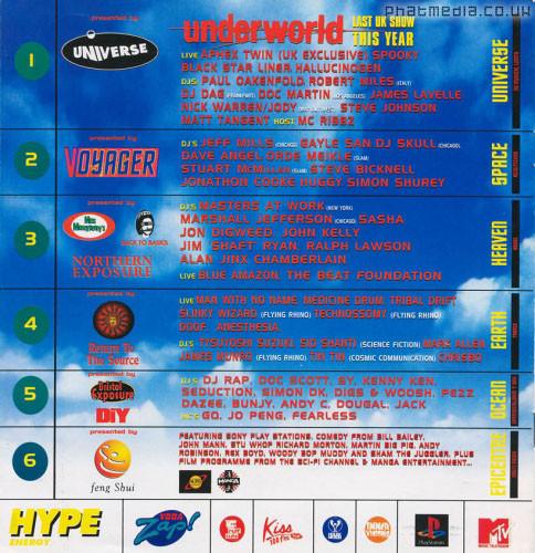 BIG LOVE 96 Line up
