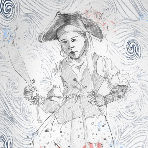 """""""Pirate girl""""  (Illustration from The Girl Who Lost Her Imagination)"""