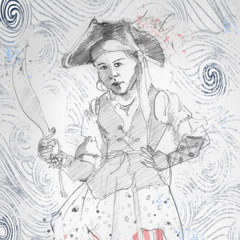 """Pirate girl""  (Illustration from The Girl Who Lost Her Imagination)"