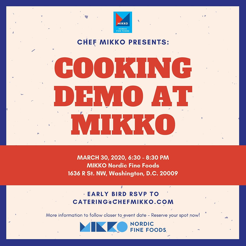 Cooking Demo with Chef MIKKO