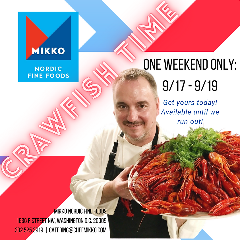 Crawfish weekend at MIKKO, one weekend only!