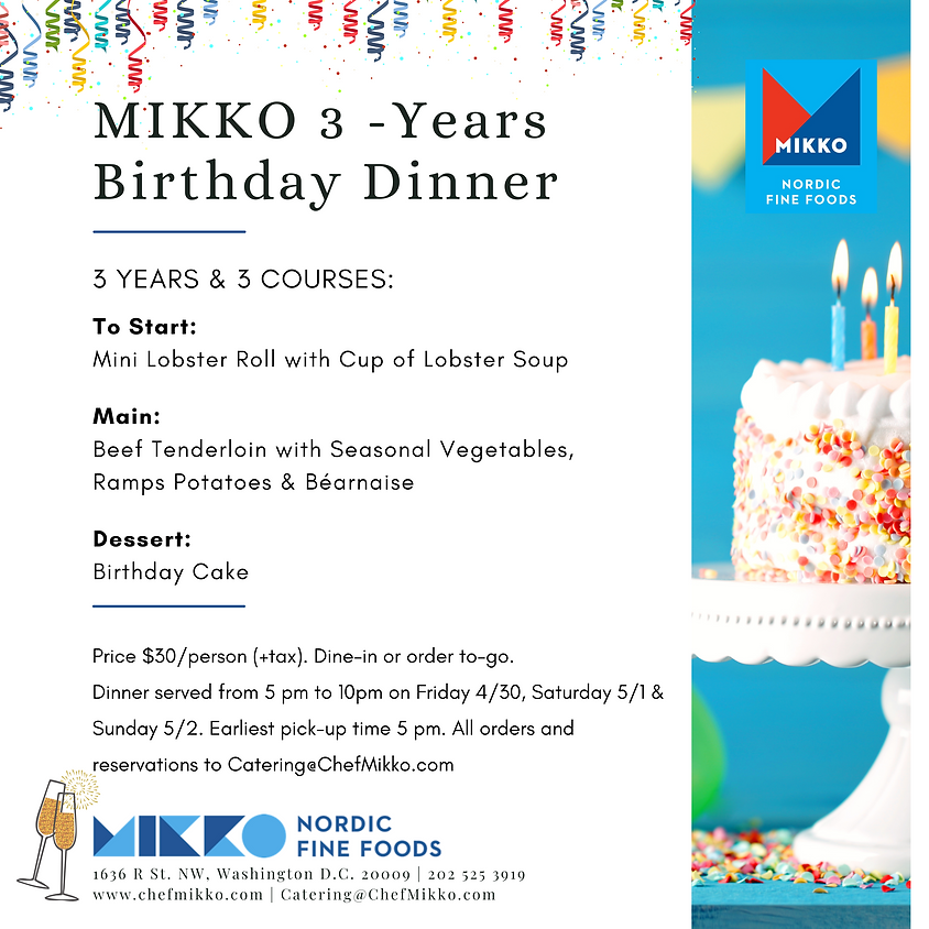 MIKKO 3-Years - Birthday Dinner