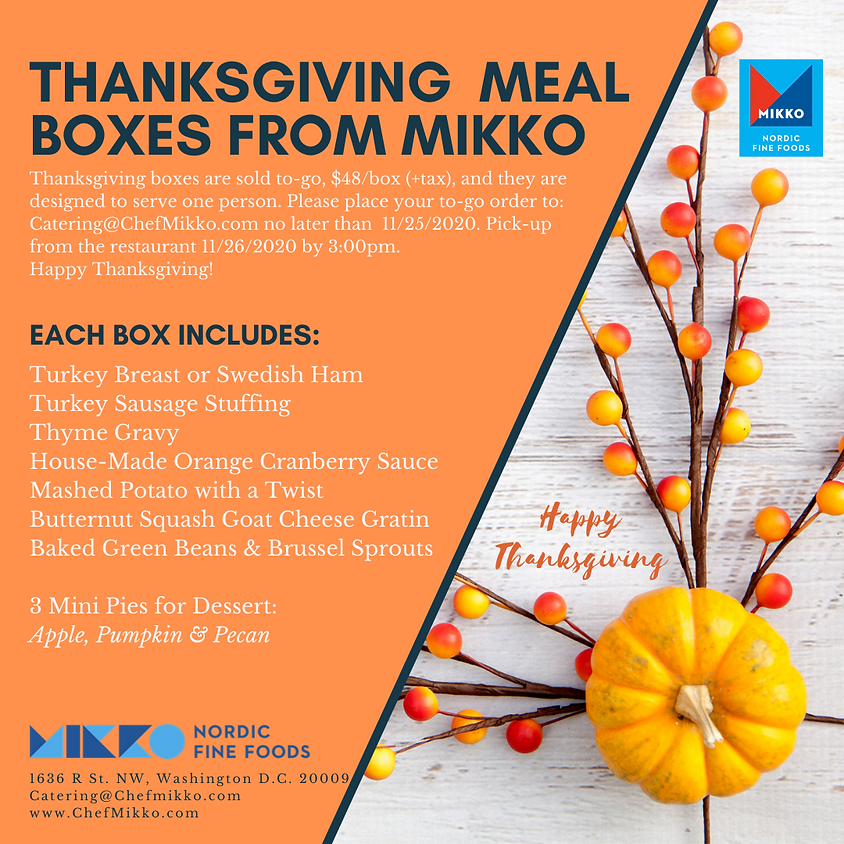 To-Go Thanksgiving Meal Boxes
