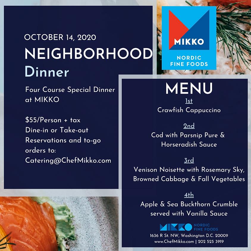 Neighborhood Dinner 10/14/2020