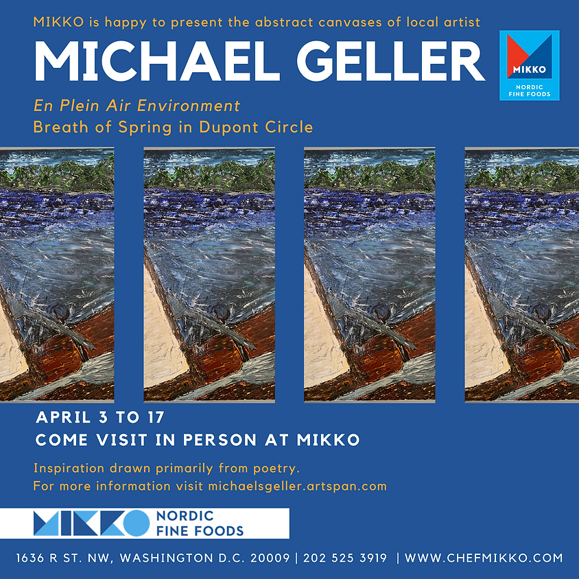 Artwork at MIKKO: local artist Michael Geller