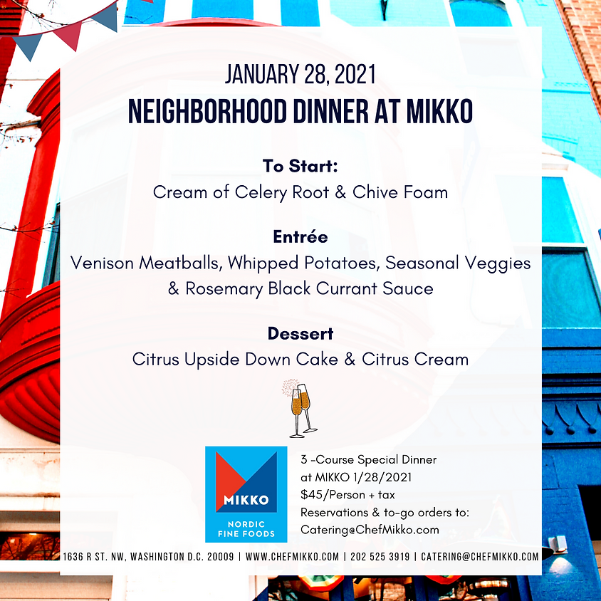 Neighborhood Dinner 1/28/2021