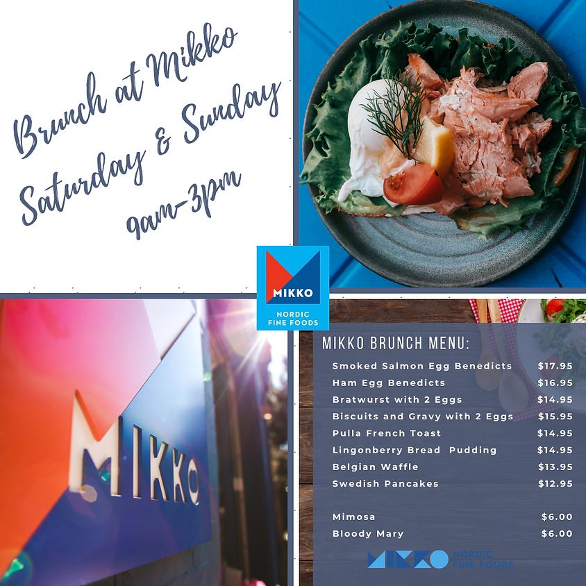 Nordic Brunch at MIKKO Saturday & Sunday
