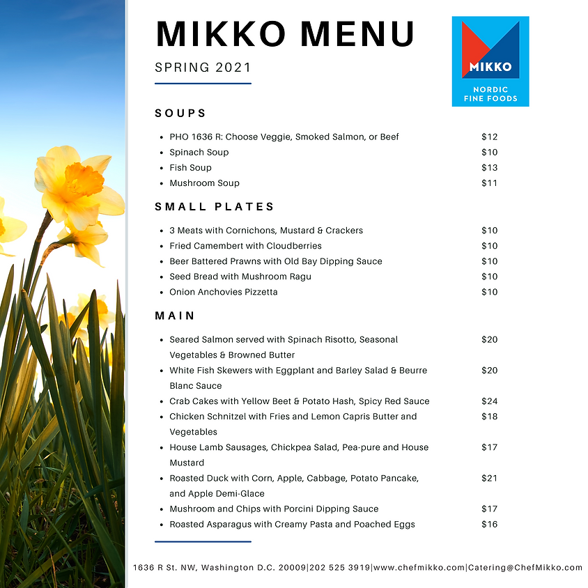 Spring Menu at MIKKO - available NOW