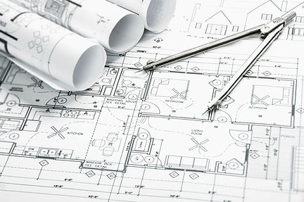 Plans for a new building project Orishon Projects is going to start. Ensuring the drawings are clear before the build starts.