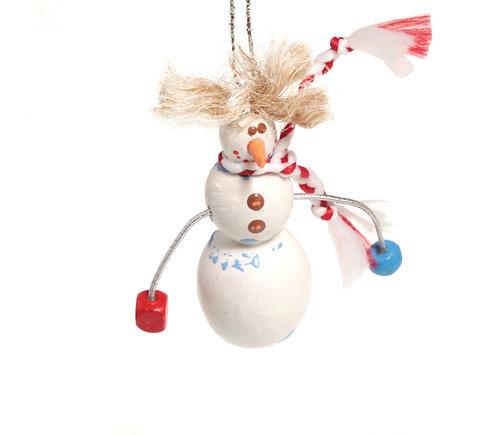 Сніговик на мотузочці / Snowman Ornament
